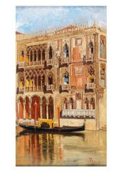 Antoniette Brandeis - A view of Palazzo Ca' D'oro