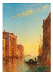 Félix Ziem  - A view of Venice