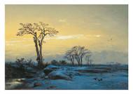 Eduard Hildebrandt - Crows in an Open Winter Landscape