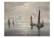 Ernst Lorenz Murowana - Fischerboote auf Stiller See