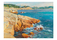 Eugene Robert - Scene on the Southern French Coast