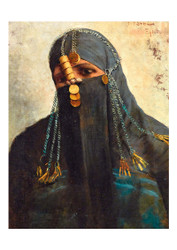 Fabio Fabbi - A Veiled Egyptian Woman with an Arousa el Burka the Tradional Face Veil