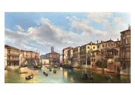 Federico Moja - A View of the Grand Canal from the Artist's house in Venice