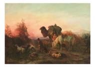 Feodor Baikoff - Resting at Dusk