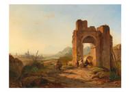 Francois Antoine Bossuet - A View of Seville