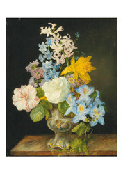 Franz Xaver Petter - Bouquet of Flowers in a Porcelain Vase