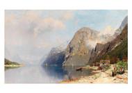 Georg Anton Rasmussen - A fjord Landscape