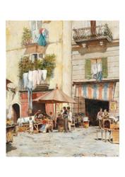 Giuseppe Lamonica - Street Scene in Naples