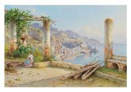 Guglielmo Giusti - View of the Coast of Amalfi