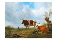 Henrik van de Sande Backhuijzen - Grazing Cattle in a Vast Landscape