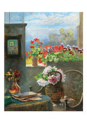 Hugo Charlemont - Flowers by the Window