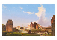 Ippolito Caffi - A view of the Roman Forum with the Arch of Constanitine