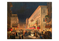 Ippolito Caffi - Carnival in Rome the Feast of Moccoletti
