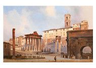 Ippolito Caffi - The Roman Forum