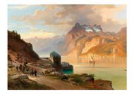 Josef Mayburger - The Axenstrase on Lake Lucerne