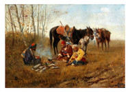 Joseph Berres von Perez - Horsemen Resting