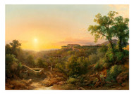 Karoly Marko - The Younger Italian Landscape with Villas