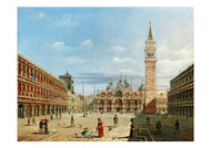Marco Grubacs - Venice a Lively Scene on St Mark's Square