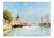 Marie Joseph Leon Iwill - A View of Venice