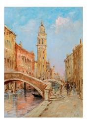 Marie Joseph Leon Iwill - Venetian Scene