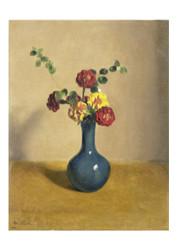 Wilhelm Witsen - Marigolds in a Blue Vase