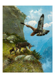 Moritz Muller ii - Chamois and Golden Eagle