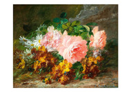 Pierre Garnier - Flower Piece with Multi Petalled Roses
