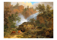 Pierre Louis de la Rive - A Lively Scene before a Mountain Mill
