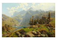 Robert Schultze - The Murgsee in Switzerland Glaris