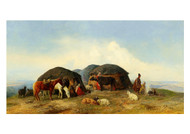 Theodor Ilich Baikoff - Resting Cattle Herders in the Northern Caucasus