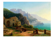 Thomas Ender - A View of the Amalfi Coast near Ravello