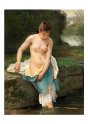 Wenzel von Brozik - Female Nude at the Brook
