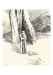 Odilon Redon - A madman in a Dismal Landscape