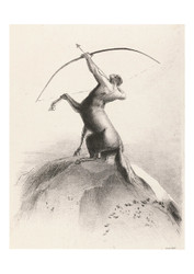 Odilon Redon - Centaur Aiming at the Clouds