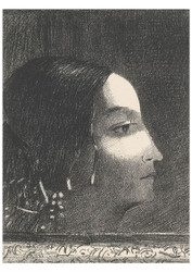 Odilon Redon - Dramatic and Grandiose with Her Face like that of a Druid Priestess