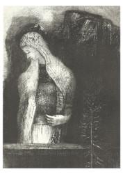 Odilon Redon - Female Saint and Thistle