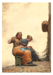 Winslow Homer - Mending the Nets