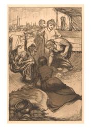 Johannes Josephus Aarts - Bending Women in Rolling Countryside
