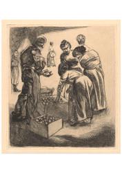 Johannes Josephus Aarts - Market Scene with Fruit Seller