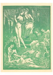 Johannes Josephus Aarts - Nine Fantastic Female Figures Green