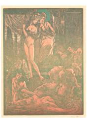 Johannes Josephus Aarts - Nine Fantastic Female Figures Red