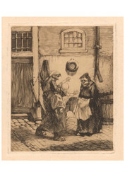 Johannes Josephus Aarts - Two Woman and a Struggling Child