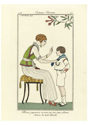 George Barbier - Japanese Silk Blouse with a Pleated Sailor Skirt
