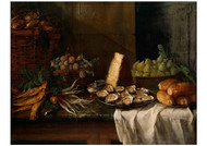 Alexandre Francois Desportes - Breakfast Piece with Oysters