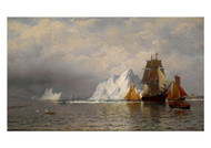 Bradford William - Whaler and Fishing Vessels Near the Coast of Labrador