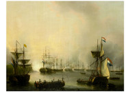 Martin Schouman - Bombardment of Palembang Sumatra by the Dutch Fleet