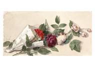 Willem de Farmars Testas - Bouquet of Roses and Pelargonium