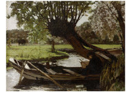 Matthijs Maris - Boat with a Pollard Willow