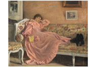 Gustaf Cederstro - Carola Sitting on the Sofa