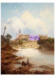 Carl hasch - View of Wawel Castle Krakow